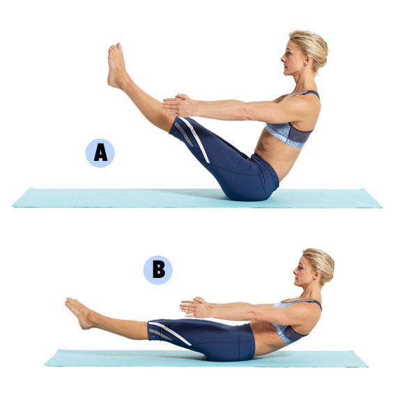 Sit Upright On The Floor Then Lean Back Extending Your Arms Straight In Front Of You And Lifting Legs Together Off This Is Boat A